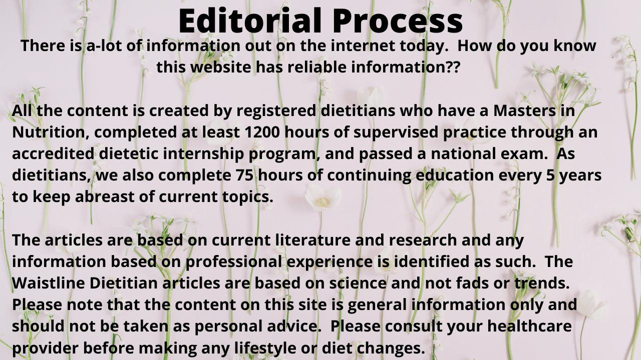 The waistlinedietitian.com editorial process
