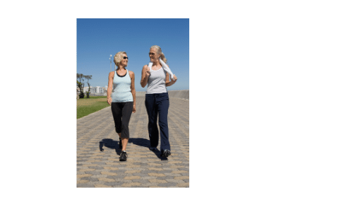 Intuitive eating gentle exercise2 women walking