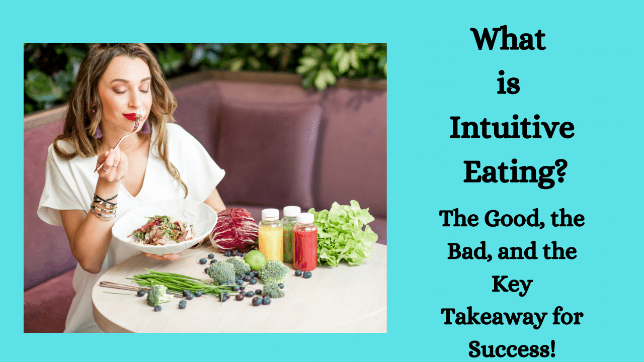 A lady eating. What is Intuitive Eating?