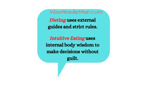 waistline dietitian intuitive eating